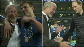 'I'll bring you the trophy, it's yours': New video shows Chelsea stars celebrating with Abramovich after Champions League win