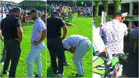 'Not again': Golfer Jon Rahm surges into lead at US PGA Tour event before being told that he has Covid on live television (VIDEO)