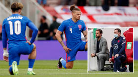 'People pay money to watch football, not virtue-signaling': England fans defend boos as jeers ring out at Riverside again (VIDEO)