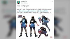 SJWs hail Marvel's new 'Filipina Captain America', but her name has raised eyebrows… as it can mean 'HEROIC GENITALS'