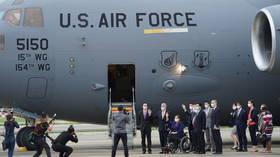 China's Defense Ministry blasts 'vile provocation' after US senators visit Taiwan on military plane