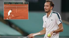 'He should be EMBARRASSED': Madcap Medvedev ripped for botched underarm serve on match point in French Open defeat (VIDEO)
