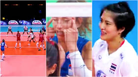 'She didn't mean disrespect': Serbia volleyball ace banned for racist eye gesture towards Thai opponents that caused fury (VIDEO)