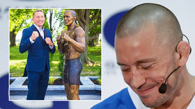 'Why does GSP's statue look like Barack Obama?' Mockery for sculpture of UFC legend St-Pierre as fans claim it's ex-US president