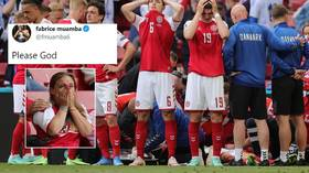 'Please God': Support pours in for Eriksen as fans chant name in stadium after Denmark star collapses at Euro 2020 (VIDEO)