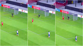 What a howler: Haiti goalkeeper Josue Duverger savagely mocked for scoring one of the worst own-goals fans have ever seen (VIDEO)