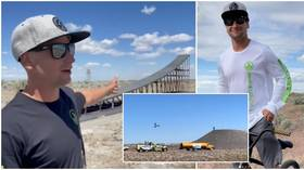 American motorbike daredevil Alex Harvill dies during practice run for 351ft world record jump