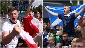 'We'll batter the Scots': England fans in confident mood as Scottish invasion descends on Wembley ahead of huge Euro 2020 clash