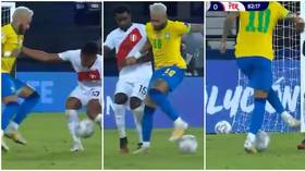 'The man's a magician': Neymar dazzles with sublime passage of skill against Peru as he closes in on Pele record (VIDEO)