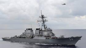Beijing brands US greatest 'security risk creator' in region after US warship enters Taiwan Strait