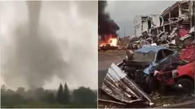 Hundreds injured, villages DESTROYED as strong tornado rips through Czech Republic towns (VIDEOS)