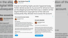 India's IT minister blasts Twitter after being locked out of account amid state's ongoing row with tech giant