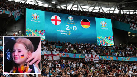 A fundraiser has been created for a fan who watched Germany lose to England © Carl Recine / Reuters   © YouTube / Darthlalang