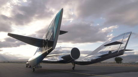 Virgin Galactic unveils a new spaceship 'VSS Imagine' in this handout still image obtained by Reuters on March 30, 2021