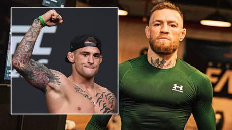 Conor McGregor (right) is preparing to face Dustin Poirier again© Adam Hagy / USA Today Sports via Reuters | © Instagram / thenotoriousmma