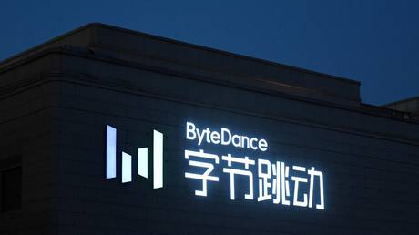 FILE PHOTO. The headquarters of ByteDance, the parent company of video sharing app TikTok, is seen in Beijing. © AFP / GREG BAKER