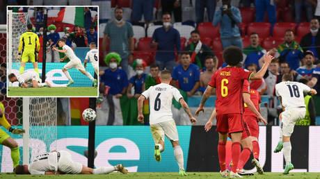Ciro Immobile lay prone as Italy scored against Belgium © Matthias Hangst / Reuters