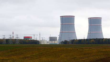 FILE PHOTO. The Ostrovets nuclear power plant. ©REUTERS / Vasily Fedosenko