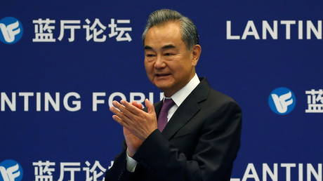 FILE PHOTO: Chinese Foreign Minister Wang Yi attends a Lanting Forum in Beijing