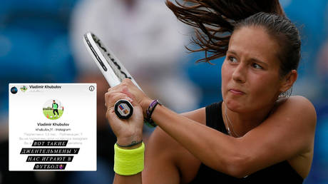 Daria Kasatkina received abuse after exiting Wimbledon © Twitter / saltytennis © | Andrew Couldridge / Action Images via Reuters