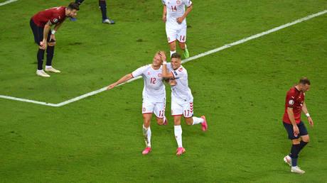 Denmark saw off the Czech Republic in Baku to book a Euro 2020 semi-final spot. © Reuters