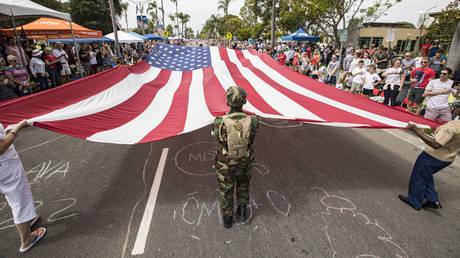 Coronado Fourth of July Parade on July 03, 2021 in Coronado, California.