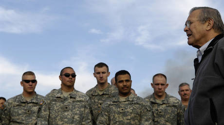 FILE PHOTO: U.S. Defense Secretary Donald Rumsfeld