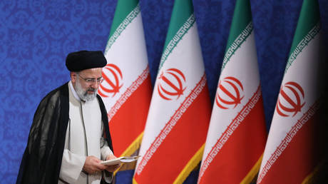 Iran's President-elect Ebrahim Raisi is pictured during his first press conference in the Islamic republic's capital Tehran, on June 21, 2021