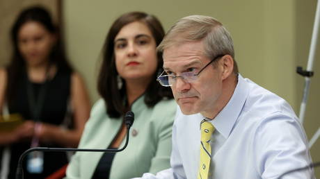 FILE PHOTO: Jim Jordan pictured at a forum on Capitol Hill in Washington, DC, June 29, 2021 © Reuters / Jonathan Ernst