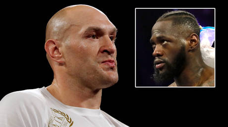Tyson Fury (left) may not face Deontay Wilder this month because of a rumored Covid outbreak © Steve Marcus / Reuters