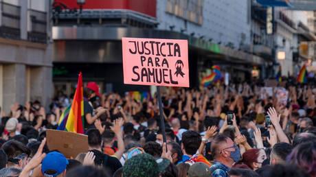 FILE PHOTO. Protesters demand justice for Samuel Luiz in Madrid. ©Guillermo Gutierrez Carrascal / Keystone Press Agency via Global Look Press