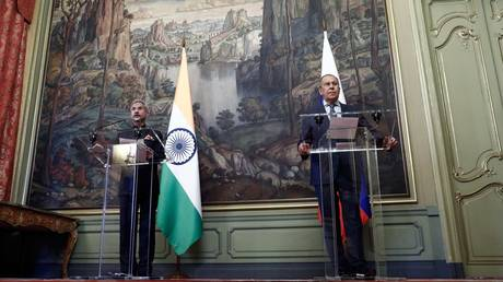 Russia's Foreign Minister Sergey Lavrov holds joint press conference with India's top diplomat, Subrahmanyam Jaishankar, in Moscow on July 9, 2021.