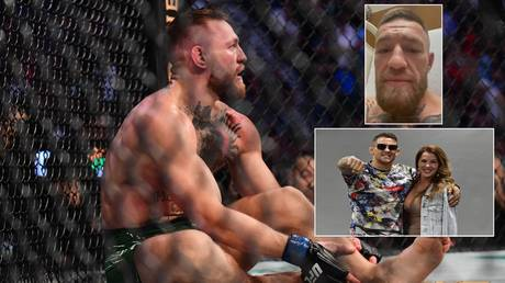 Conor McGregor issued a hospital bed update and ripped into UFC rival Dustin Poirier. © USA Today Sports / Zuffa LLC / Instagram @thenotoriousmma