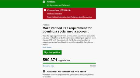 Screenshot © petition.parliament.uk