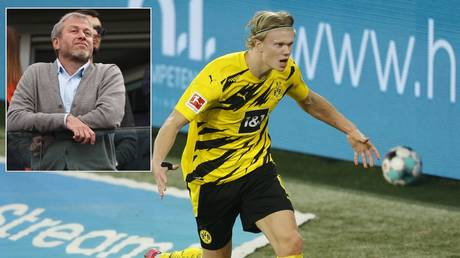 Haaland is a target for Abramovich and Chelsea. © AFP / Reuters