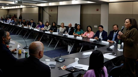 US Vice President Kamala Harris meets with Democratic members of Texas state legislature in Washington DC