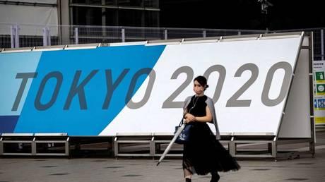 The Tokyo 2020 Olympic press center in Japan, July 9, 2021. © Behrouz Mehri/AFP