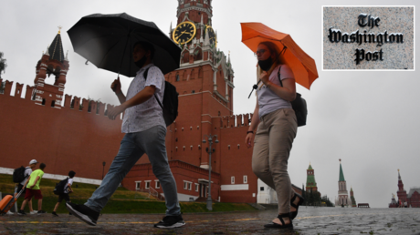 Moscow, Russia. © RIA; (inset) Washington, DC. © Getty Images / Oliver Contreras
