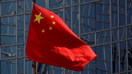 The Chinese national flag is seen in Beijing, China