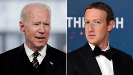 (L) Joe Biden. © Reuters / Ken Cedeno; (R) Mark Zuckerberg. © AFP / JOSH EDELSON