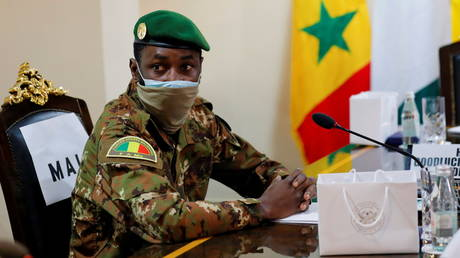FILE PHOTO. Colonel Assimi Goita, leader of Malian military junta, attends the Economic Community of West African States (ECOWAS) consultative meeting in Accra, Ghana. © Reuters / Francis Kokoroko