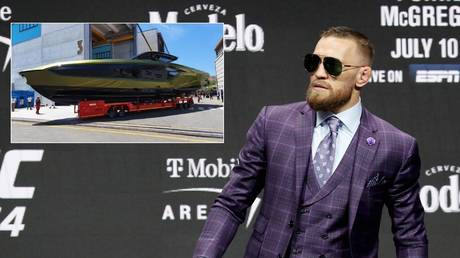 Conor McGregor showed off his new yacht on social media. © Reuters / Instagram @thenotoriousmma