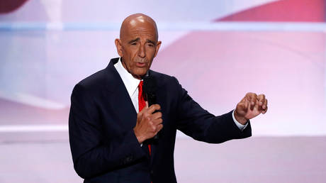 FILE PHOTO: Colony Capital CEO Thomas Barrack speaks at the Republican National Convention in Cleveland, Ohio, July 21, 2016.