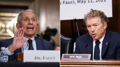 Anthony Fauci (L) and Rand Paul (R) clash during a Senate hearing on the federal government's coronavirus response in Washington, DC, July 20, 2021 © Reuters / J. Scott Applewhite