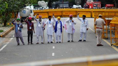 Protest against India