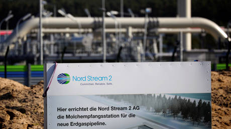 The landfall facility of the Baltic Sea pipeline Nord Stream 2 is pictured in Lubmin, Germany, September 10, 2020. © REUTERS/Hannibal Hanschke