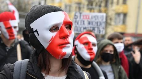 Participants of the opposition protest action 'People's Ultimatum' in Minsk. © Sputnik / Viktor Tolochko