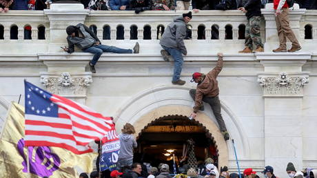 File photo: Supporters of US President Donald Trump storm the US Capitol building in Washington, January 6, 2021.
