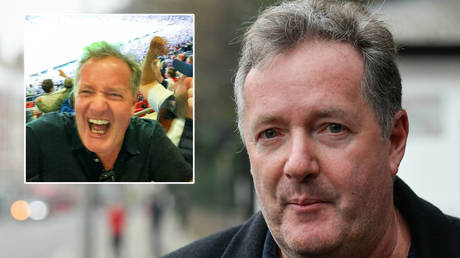 Piers Morgan has claimed he caught Covid-19 at Wembley © Instagram / piersmorgan  | © Toby Melville / Reuters