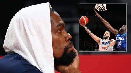 Kevin Durant watched on as the USA men's basketball team lost at the Tokyo 2020 Olympics © Brian Snyder / Reuters | ©  Kyle Terada / USA Today Network via Reuters